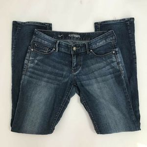 Express Stella Barely Boot Cut Jeans Low Rise Sz 4